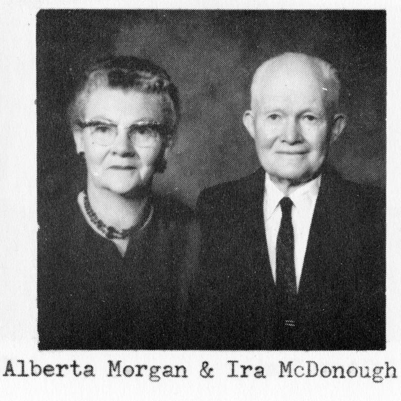 Alberta Morgan and Ira McDonough
