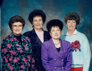Jane Westwood, Lucille Fullmer, Loana Price and Brenda Robinson
